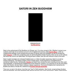 Satori in Zen Buddhhism