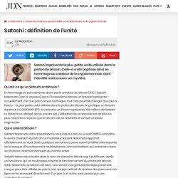 Satoshi: définition de l'unité