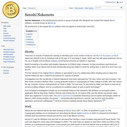 Satoshi Nakamoto, bitcoin.it