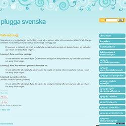 Plugga svenska