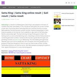 Satta king online result