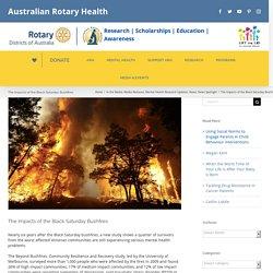 The Impacts of the Black Saturday Bushfires – Australian Rotary Health