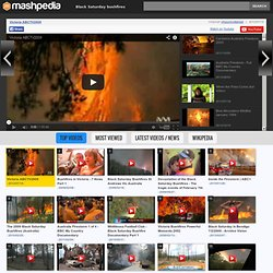 Black Saturday bushfires videos