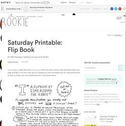 Saturday Printable: Flip Book