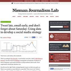 Tweet late, email early, and don't forget about Saturday: Using data to develop a social media strategy » Nieman Journalism Lab » Pushing to the Future of Journalism