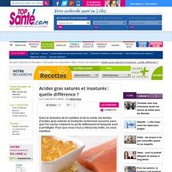 Acides gras saturés et insaturés : quelle différence