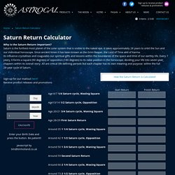 Saturn Return Calculator - Astrocal