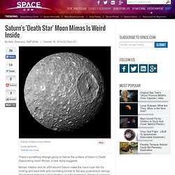 Saturn's 'Death Star' Moon Mimas Is Weird Inside