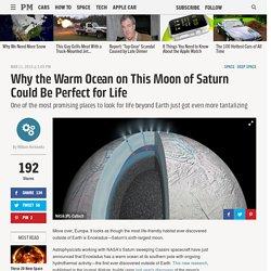 Saturn's Moon Enceladus Has a Warm Ocean, Could Have Life
