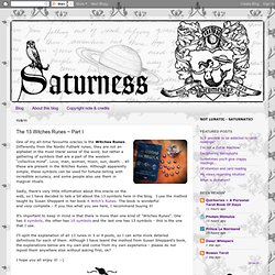 The 13 Witches Runes ~ Part I