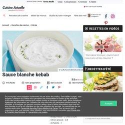 Sauce blanche kebab facile et rapide