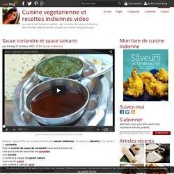 Sauce coriandre et sauce tamarin