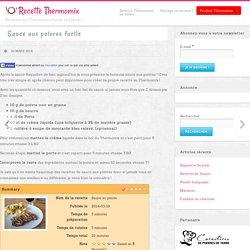 Sauce aux poivres très facile au Thermomix