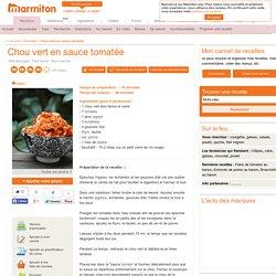 Chou vert en sauce tomatée : Recette de Chou vert en sauce tomatée