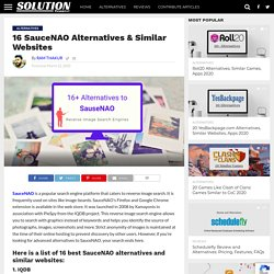 16 SauceNAO Alternatives & Similar Websites - Solution Suggest