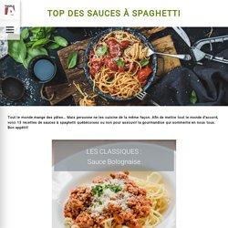 Top des sauces à spaghetti - Recette