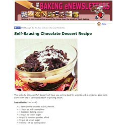 Self-Saucing Chocolate Dessert Recipe