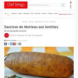 Saucisse de Morteau aux lentilles et à la moutarde ancienne - Recette par Chef Simon