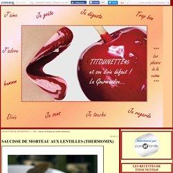 Saucisse de Morteau aux lentilles (thermomix)