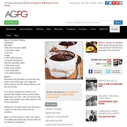 Saucy Chocolate Pudding Recipe
