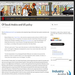 Of Saudi Arabia and US policy