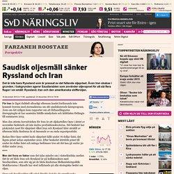 Saudisk oljesmäll sänker Ryssland och Iran