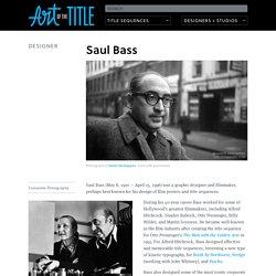 Saul Bass — Art of the Title