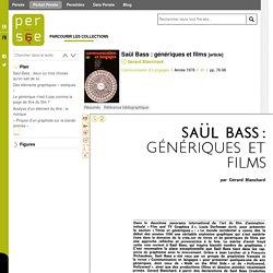 Saül Bass : génériques et films