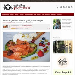 SAUMON GRAVLAX , avocat, Burrata et fruits rouges
