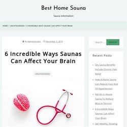 Sauna Health Benefits to the Brain You Need to Know