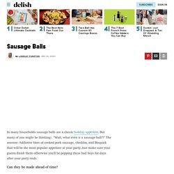 Sausage Balls Recipe - How to Make Sausage Balls