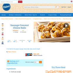 Sausage Crescent Cheese Balls recipe from Pillsbury.com