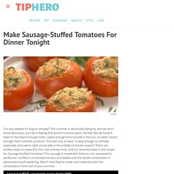 Sausage-And-Rice-Stuffed Tomatoes Recipe