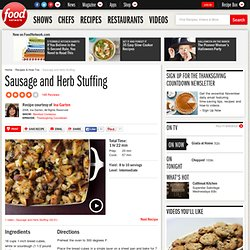 Sausage and Herb Stuffing Recipe : Ina Garten