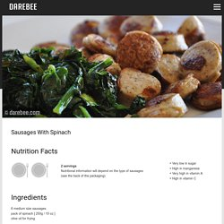 Sausages With Spinach