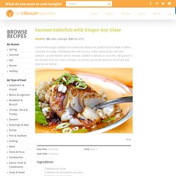 Sauteed Sablefish with Ginger-Soy Glaze - NOURISH Evolution