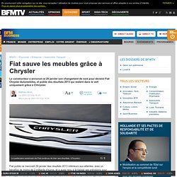 Fiat sauve les meubles grâce à Chrysler