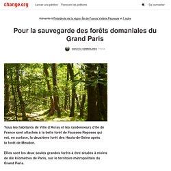 @vpecresse Pour la sauvegarde des forêts domaniales du Grand Paris