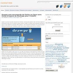 sauvegarde de fichier en ligne sans limite d'espace de stockage Drawpr.com