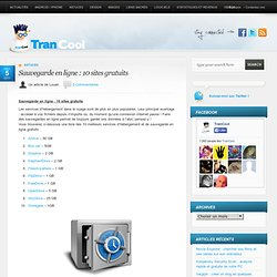 Sauvegarde en ligne : 10 sites gratuits