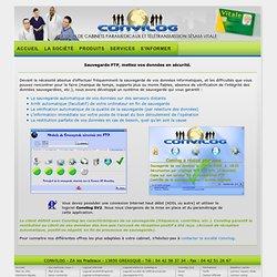 CONVILOG - Sauvegarde FTP, protection des données et fichiers - Convilog médical.