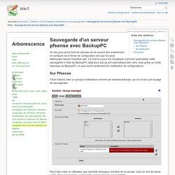 Sauvegarde d'un serveur pfsense avec BackupPC [WikiT]