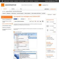 sauvegarder vos messages avec Outlook 2007