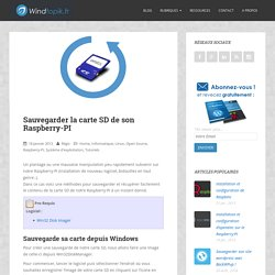 sauvegarder la carte SD de son raspberry-pi