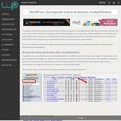 Sauvegarder facilement une base de données via phpMyAdmin
