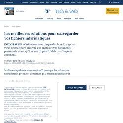 Les meilleures solutions pour sauvegarder vos fichiers informatiques - Tech & Web Le Figaro