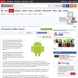 Sauvegarder les SMS - Android