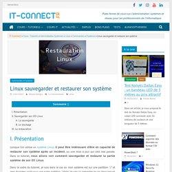 Linux sauvegarder et restaurer son système