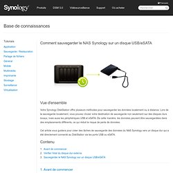 Comment sauvegarder le NAS Synology ...