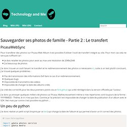 Sauvegarder ses photos de famille - Partie 2 : Le transfert